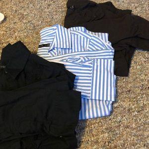 3 button down shirts